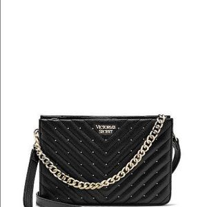 NWT VICTORIA SECRET QUILTED STUDDED CROSSBODY
